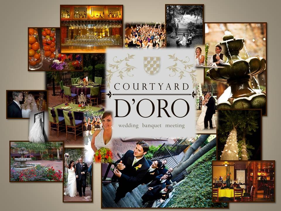 Courtyard d'ORO wedding venue