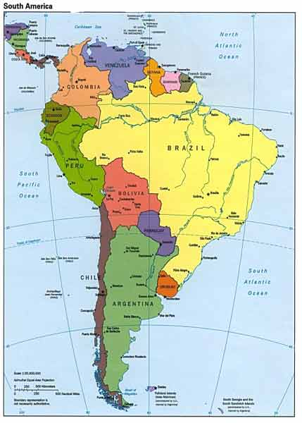 Map of South America -may take awhile to view