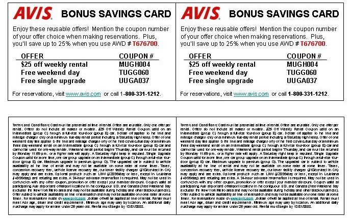 Coupons for your use